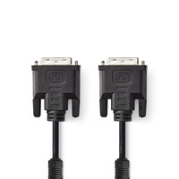 Nedis Câble DVI, DVI-I Mâle à 24 + 5 Broches - DVI-I Mâle à 24 + 5 Broches, 2,0 m, Noir