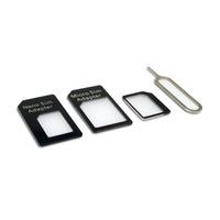 Sandberg SIM Adapter Kit 4in1 SIM / flash adaptateurs de carte mémoire - Noir