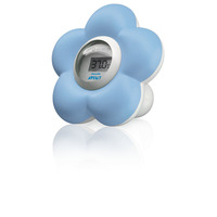 Philips AVENT Babybad- en kamerthermometer met blauwe bloemen Digitale thermometer
