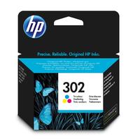 HP 302 originele drie-kleuren Inktcartridge - Cyaan,Magenta,Geel