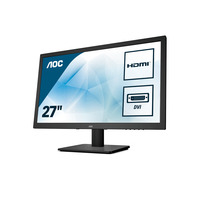 AOC 75 Series 27 inch 1920x1080@60Hz 2 ms TN HDMI 1.4 x 1, VGA, DVI Monitor - Zwart