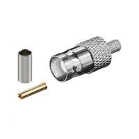 Microconnect BNC Crimp Plug f/ RG58 Coaxconnector - Chroom, Goud