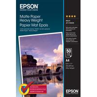 Epson Matte Paper Heavy Weight - A4 - 50 Vellen Fotopapier - Wit
