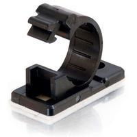 C2G 17mm Cable Clamp, 50pk, Black Kabelklem - Zwart
