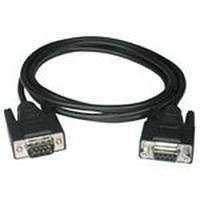 C2G 1m DB9 M/F Cable Seriële kabel - Zwart