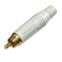 Amphenol RCA Plug Male, White Kabel adapter - Wit