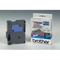 Brother Gelamineerd tape - 12mm, zwart/groen Labelprinter tape