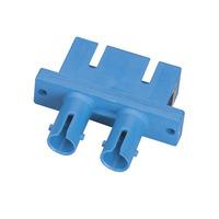 Black Box Adaptateur de fibre optique ST/SC Multimode Duplex/Simplex Bronze Rect Adaptateur de câble - Bleu