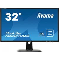 "Iiyama ProLite 31.5""(80cm), IPS, WQHD, 2560 x 1440, 1200:1, 300cd/m², 4ms, HDCP, VESA 100 x 100 Monitor - Zwart"