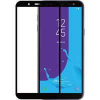Azuri Tempered Glass flat RINOX ARMOR - frame noir - Samsung J6 (2018) Protecteur d'écran