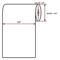 "Datamax O'Neil Hi-Temp 4.40"" x 93' Thermisch papier"