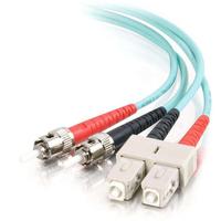 C2G 2m SC-ST 10Gb 50/125 OM3 Duplex Multimode PVC Fibre Optic Cable (LSZH) - Aqua Fiber optic kabel - Turkoois