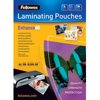 Fellowes Glossy Pouches A5 100 pcs. 80mµ Lamineerhoes