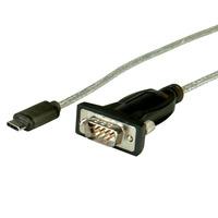 ROLINE Convertisseur USB / série, type C - RS232, noir, 1,8 m Câble série - Noir,Gris