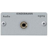 Kindermann Adapter plate Audio jack (3.5 mm stereo) - Argent