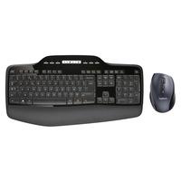Logitech Wireless Desktop MK710 Confort et productivité au quotidien - AZERTY Clavier - Noir