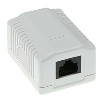 ACT Surface mounted box unshielded 1 ports CAT5E Boitier de prise de courant - Blanc