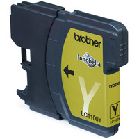 Brother LC-1100Y Yellow Ink Cartridge Blister Pack Inktcartridge - Geel