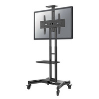 Newstar verrijdbaar flatscreen meubel TV standaard - Zwart