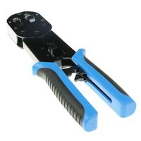 ACT Modulaire krimptang voor easyconnect RJ45 connectoren Krimp-, knip- en striptang voor kabels - Zwart, Blauw