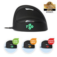 R-Go Tools R-Go HE Break Mouse, Ergonomische muis, Anti-RSI software, Medium (Handlengte 165-185mm), .....