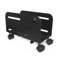 Ewent Adjustable PC/CPU stand on wheels Support CPU - Noir