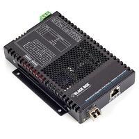Black Box PoE+ Industrial Gigabit Ethernet Media Converter, SFP Convertisseur réseau média - Noir