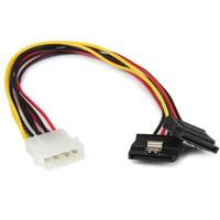 StarTech.com Câble adaptateur d'alimentation interne LP4 (4 broches) - Mâle vers 2x SATA femelle - 30 cm