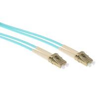 ACT 1,5 meter multimode 50/125 OM3 duplex armored fiber patch kabel met LC connectoren Fiber optic kabel - Aqua-kleur