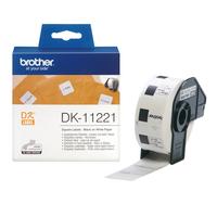 Brother Vierkant papieren label 23 mm Labelprinter tape - Wit