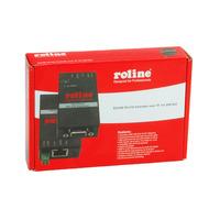 ROLINE RS-232 Extender over TP, for DIN Rail Console verlengers - Zwart