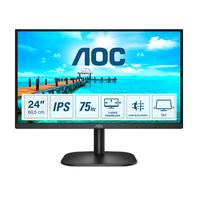 AOC B2 23.8 inch 1920x1080@75Hz 7 ms IPS HDMI 1.4 x 1, VGA Monitor - Zwart