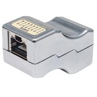 Intellinet Inline Coupler, Cat6, FTP, Locking Function, Metallic - Zilver