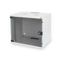 Digitus 7U wall mounting cabinet, SOHO, unmounted 370x540x400 mm, full glass front door, grey Stellingen/racks - .....