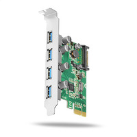 Axagon PCEU-430V PCIe controller 4x USB3.0 Adaptateur Interface