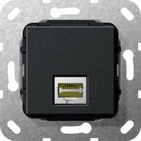 GIRA Basiselement Modular Jack RJ45 Cat.6 10 GB Ethernet Koppeling Dop aansluitdoos - Zwart
