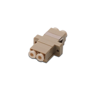 Digitus FO coupler, duplex, LC to LC, MM, color beige, OM2 ceramic sleeve, polymer housing, incl. screws .....