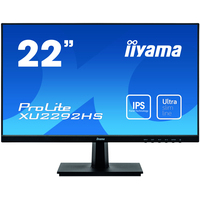 "Iiyama ProLite 21.5|"", 1920 x 1080, IPS, 250 cd/m², 1000:1, 4 ms, VGA, HDMI, DisplayPort, 488.5 x 376 x 187 mm ....."