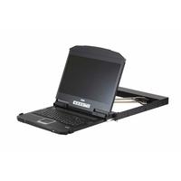 ATEN 1U Ultra Korte Diepte Dubbelvoudige Rail Breedbeeld LCD-console (USB / HDMI / DVI / VGA) Stellage consoles - .....