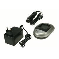 2-Power DBC9050A Chargeur de batterie - Noir, Argent