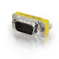 C2G HD15 VGA M/F Mini Port Saver Adapter, 1 x HD15 Male, 1 x HD15 Female Kabel adapter - Nikkel