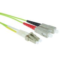 ACT MTRJ-SC 9/125um OS1 Duplex 1m (RL5901) Fiber optic kabel - Wit