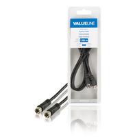 Valueline F/F, 1m Câble coaxial - Noir