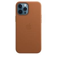 Apple Leren hoesje met MagSafe voor iPhone 12 Pro Max - Zadelbruin