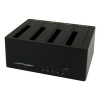 LC-Power LC-DOCK-U3-4B HDD/SSD docking stations - Zwart