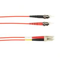 Black Box ST-LC 3m Câble de fibre optique - Rouge