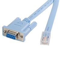 StarTech.com Câble console RJ45 vers DB9 de 1,8m pour routeur Cisco - M/F Câbles KVM - Bleu