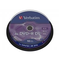 Verbatim DVD+R Double Layer Matt Silver 8x, 10pcs DVD vierge