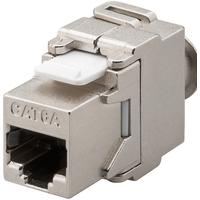 Microconnect RJ45 to IDC, CAT6a, STP - Grijs