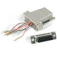 C2G RJ45/DB15F Modular Adapter Kabel adapter - Grijs